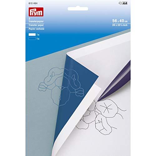 Prym Carta Copiativa Bianco Blu ricalcare ricalco Carbone 610464