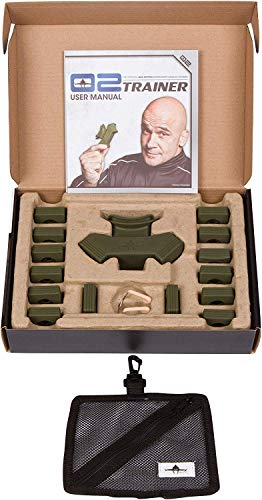 Bas Rutten O2 Trainer - Official Workout Device for Respiratory Training and Lung Muscle Fitness - Portable Breathing Mouthpiece for High Altitude and Power Training (Green)