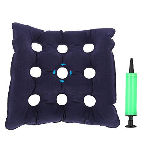 TMISHION Sitzkissen Aufblasbaresporöse Kissen Anti Hämorrhoiden Gesäß Massage Rollstuhl Pad für langes Sitzen Rollstühle verhindern Wundliegen und Dekubitus, Blau