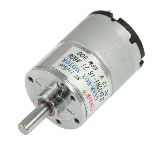 uxcell DC 12V 50mA 500RPM 0.3Kg-cm High Torque D-Shaft Permanent Magnetic Gear Motor
