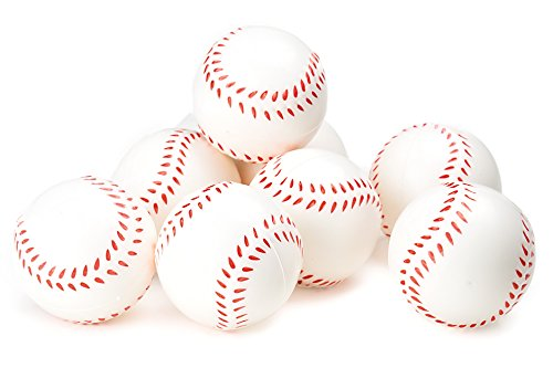 Baseball Sports Themed 25Inch Foam Squeeze Balls for Stress Relief Baseball Sport Stress Balls  Baseball Party Favors and Decoration  Bulk 1 Dozen