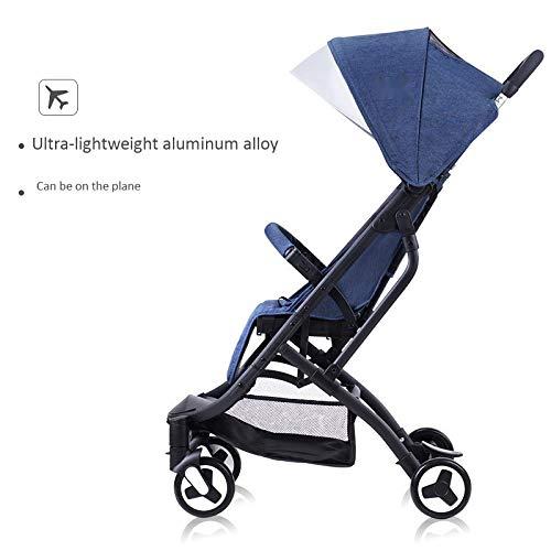 BOROAO Kinderwagen Lichtgewicht Opvouwbaar Aluminium Kan Zitten op Het Vliegtuig Liggend Pasgeboren Baby Trolley Shock
