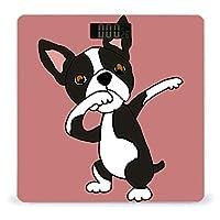 ボストンテリア犬の軽くたたく LCDディスプレイ付き高精度スマートフィットネススケール体重デジタルバスルームボディスケール