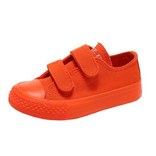 Cool&D Kinder Canvas Sneaker Segeltuchschuhe Unisex Leinwand Sportlich Schuhe Low-Top Sportschuhe
