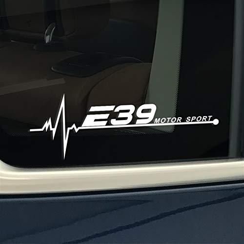 2 stücke Auto Aufkleber for e39 Vinyl Film Auto wasserdicht reflektierende Fenster...