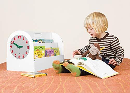 Tidy Books ® Tragbares Bücherregal Kinder, Bücherkiste Kinder, Kinderregal Weiß, Montessori Material, Box Kinderzimmer, 34 x 54 x 28 cm, Handgefertigt, Nachhaltig, Das Original seit 2004