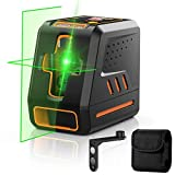Self Leveling Laser Level, Dr.meter 100ft/30m Outdoor Green Laser Level with Horizontal/Vertical/Cross-Line, 10 Modes Brightness Adjustable Line Lasers for Construction Picture Hanging-IP54 Dust-proof