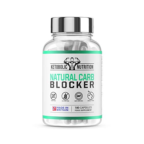 Ketobolic Nutrition Natural Carb Blocker Dietary Sports Supplement 180 Capsules High Strength Supplement