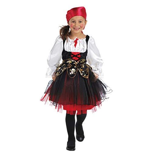 Mottoland Kinder Kostüm Piratin Seeräuber Mädchen Fasching Karneval Verkleiden: Größe: 152