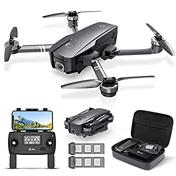 Holy Stone HS720 Foldable GPS Drone with 4K UHD Camera for Adults Quadcopter with Brushless Motor Auto Return Home Follow Me 26 Minutes Flight Time Long Control Range Includes Carrying Bag