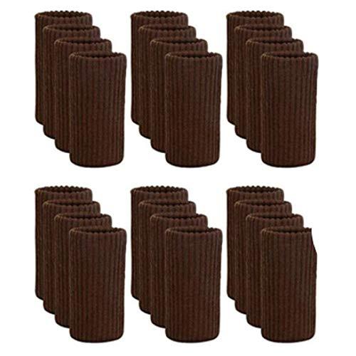 JVSISM 24 Piezas de Calcetines de Pierna para Muebles Calcetines de Malla para Muebles Protectores de Piso para Patas de Sillas para Evitar Rayar los Muebles Juego de Cojines