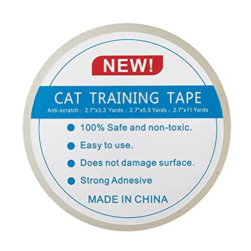 puseky Cinta de entrenamiento para gatos, cinta de rasguños, protectores de muebles, cinta de entrenamiento para sofá, muebles, puerta
