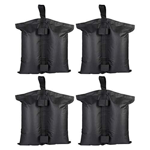 WINOMO Paquet de 4 Sacs de Poids à Baldaquin pour Poids de Jambe de Tente à Baldaquin Sacs de Sable Sacs de Sable de Tente Rechargeables pour Parasol Meubles D'extérieur