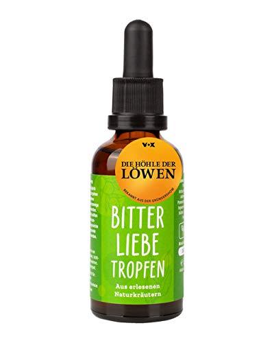 BitterLiebe® Bitterstoffe Tropfen 50ml mit praktischem Pipettenverschluss I Bittertropfen aus Die Höhle der Löwen I Hildegard von Bingen, Bitterkräuter