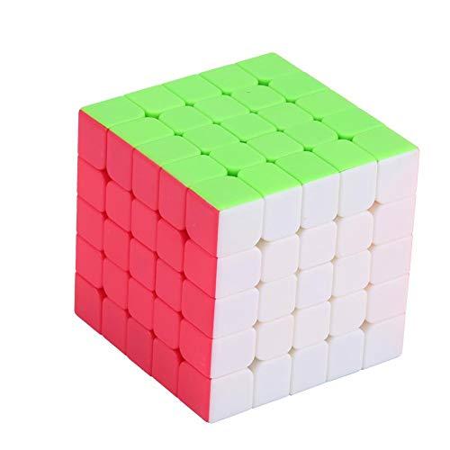 Dilwe Cubo de Velocidad, 62mm 5x5 Velocidad Suave Facil de Girar Puzzle Cubo Magico para Entrenamiento Mental