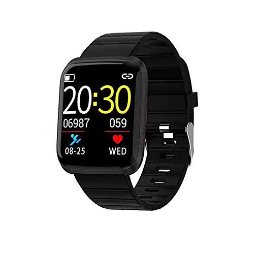 Pulsera inteligente de actividad física/pulsera inteligente con Bluetooth, monitor de sueño, deportivo, pulsera inteligente para niños, mujeres, hombres, deporte, rastreador de fitness, color negro