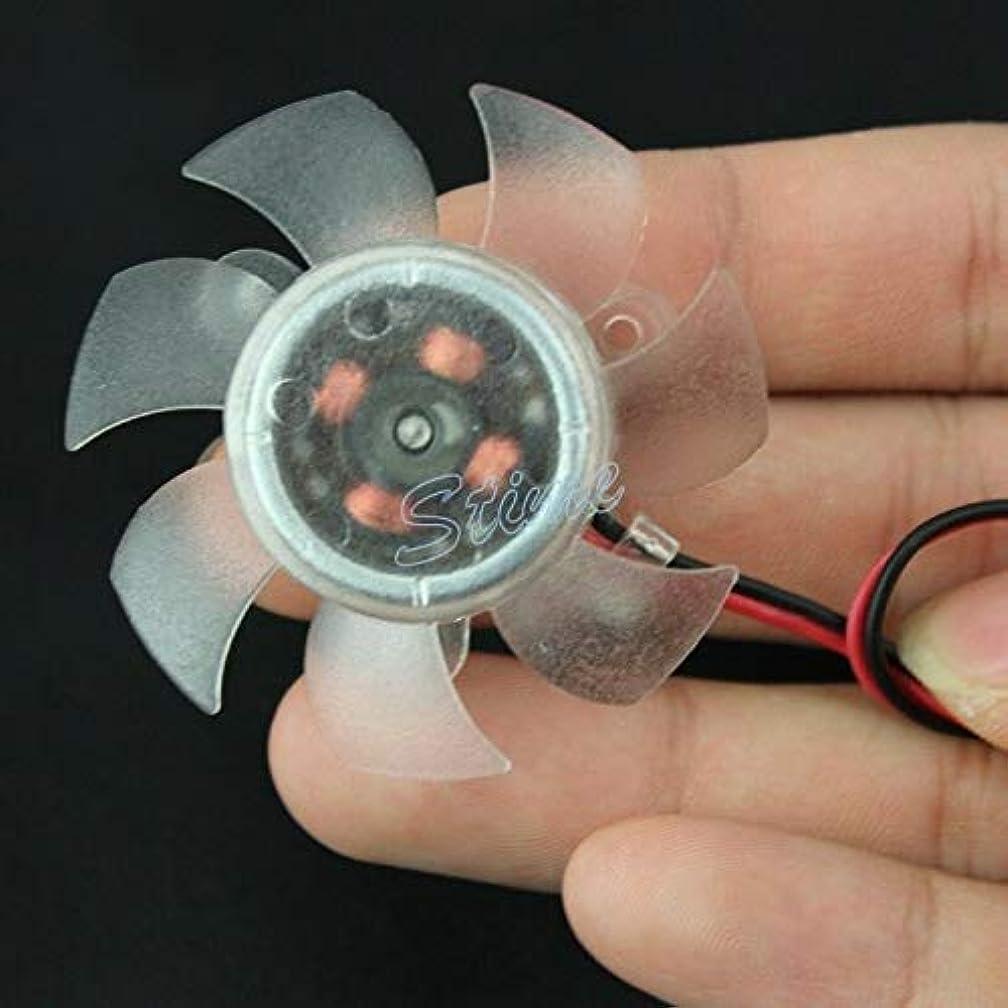 FidgetGear for 45mm 2pin Computer PC CPU Card Heatsink Cooler Cooling Transparent Fan