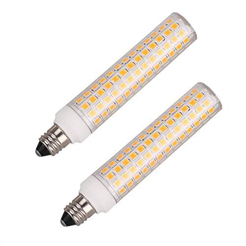 JDE11 Mini Candelabra LED Light Bulb 8W (jde11 120v 75w-100w Halogen Bulbs Equivalent) 1000lm   110V-130V Input   jd Mini can Bulb   E11 Mini Candelabra Base (Warm White 3000K   Dimmable) Pack of 2