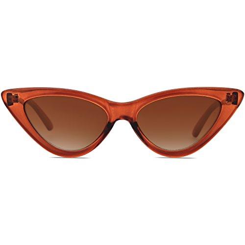 SOJOS Occhiali di Protezione Occhiali da Sole da Donna Occhio di Gatto Retro Vintage Stile SJ2044 con Marrone Telaio/Marrone Lente