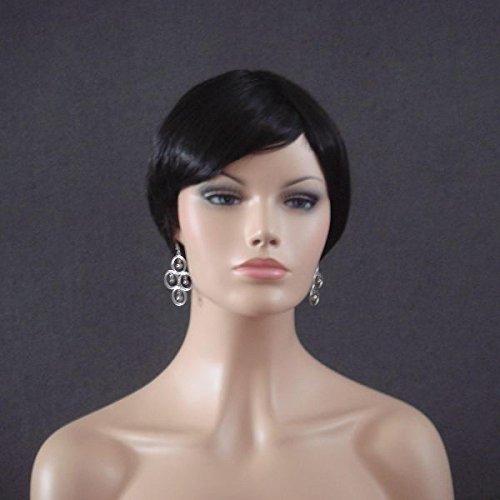 Wigs Women Short Black Trendy (perruque)