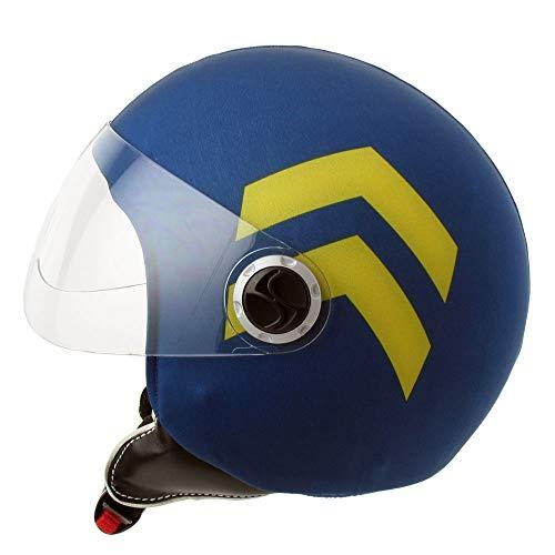 Funda Casco Jet Moto Soldier Blue