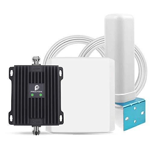 Proutone Amplificador de Señal Móvil LTE 4G 3G Datos gsm 2G Llamadas para Casa Rural Oficina Banda 20 Banda 8 Movistar Orange Vodafone Yoigo Amplificador de Cobertura Móvil de 800MHz 900MHz