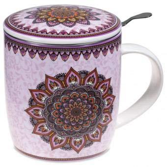 Conjunto de Mandala Taza de té Morado