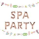 LaVenty 2 PCS Spa Party Balloons Spa Party Decoration Nail Polish Banner Spa Party Banner Spa Theme Birthday Party Salon Party Decoration Makeup Party Decoration