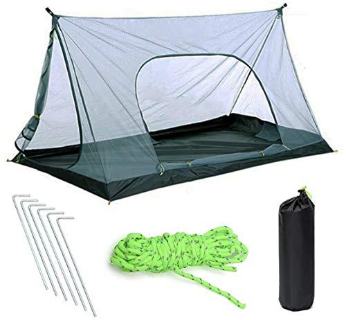 Tent, camping mesh klamboe, is geschikt voor 1-2 personen, om te wandelen, kamperen, outdoor activiteiten, eenvoudige structuur tent (zonder voet),210 * 120 * 110cm