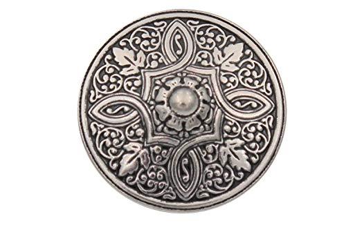 Silber Knöpfe aus Metall geschwärzt, wunderschönes Muster Made in Germany 15mm 20mm oder 25mm (6 Stück) (25mm)