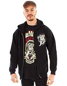 Gas Monkey Garage Hoodie for Men Black Zip Up Fast N' Loud Hooded Jumper