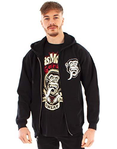 Gas Monkey Garage Sudadera con Capucha para Hombre Negro Zip Up Fast N 'Loud