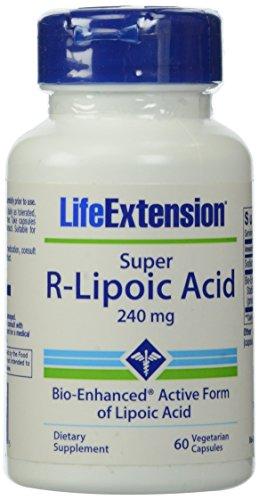 Life Extension 240mg Super R-Lipoic Acid 60 Vegetarian Capsules