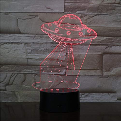 3D Table Lamp UFO Alien Color Change Awesome Present Child Visual Effect Led Night Light Table Lamp