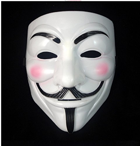 Inception Pro Infinite Maske - Weiße Farbe - Karneval - Halloween - Frau - Mann - Guy Fawkes - Film - Berühmte - Anonymous - V Wie Vendetta