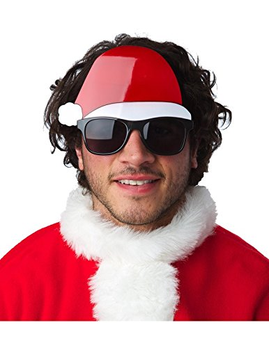Glasses with Santa Hat