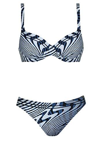 Sunflair Bikini Californian Blue Cup C, Farbe blau/weiß, Größe 40