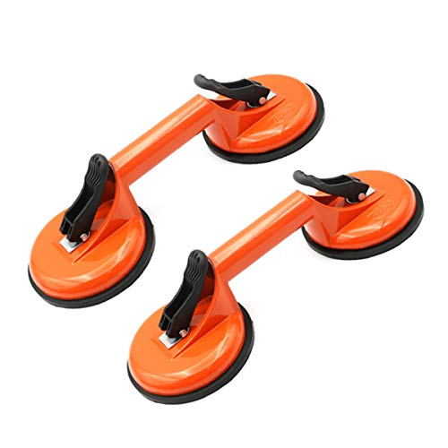 Glass Lifting Suction Cups Heavy Duty Vacuum Handle Holder to Lift Large Glass/Floor Gap Fixer/Tile Lifter/Moving Window,Mirror/Windshield Removal & Install Tool/Dent Puller