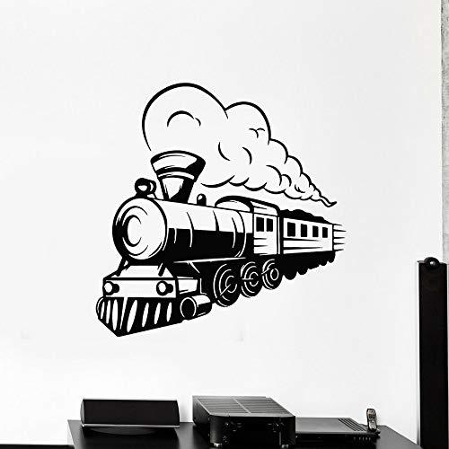 HGFDHG Calcomanía de Pared de Tren Locomotora Transporte ferroviario de Vapor Pegatina de Vinilo Dormitorio de los niños Sala de Estar decoración del hogar Mural de Arte de jardín de Infantes