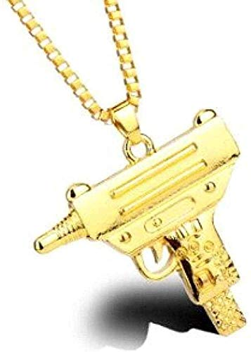ZJJLWL Co.,ltd Collar Pistola Collar Colgantes Ametralladora Collares Collar Hombres Joyería Cadena Regalo para Mujeres Hombres Regalo