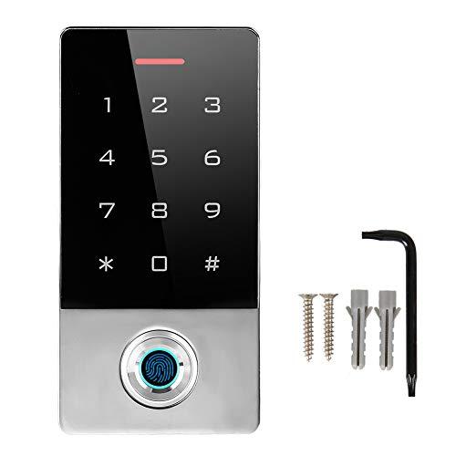 Xinwoer Metall Fingerprint Password Access System Tür, Kartenleser TF1 Tür ID Smart-Controlled Ultra-Quiet