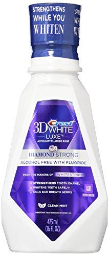 Crest 3D White Luxe Diamond starke Anticavity Fluorid Mundspülung sauber Minze 16 Oz 2 Stück