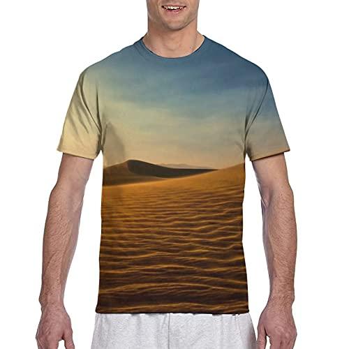 Kteubro Cozy Death Desert - Camiseta de manga corta para hombre