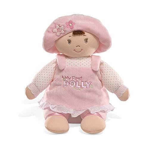 GUND My First Dolly Stuffed Brunette Doll Plush, 13'