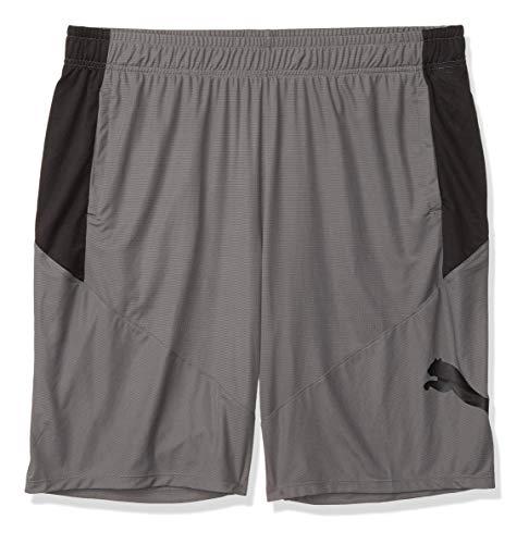 PUMA Men's Big & Tall CAT Shorts, Castlerock Black, XLT