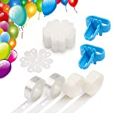 Coogam Balloon Decorating Strip Kit for Arch Garland 32Ft Balloon Tape Strip, 2 Pcs Tying Tool, 200 Dot Glue, 20 Ballon Flower Clip for Party Wedding Birthday Xmas Baby Shower DIY (Upgraded Version)