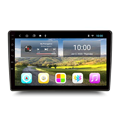 Dr.Lefran 2G RAM 32G ROM Full Touch Android 10 Car GPS, Multimedia Unidad de Navegación Universal Multimedia Reproductor Estéreo,Elantra Cable,10 Inch