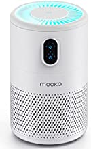 MOOKA Air Purifier for Home Large Room up to 430ft2, H13 True HEPA Air Filter Cleaner, Odor Eliminator, Remove 99.97% Allergies Smoke Dust Mold Pollen Pet Dander, Night Light(Available for California)