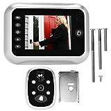DIY 3.5 pulgadas TFT LCD Pantalla Puerta digital Mirilla Visor Cámara Visión nocturna Gran angular + Grabación de video