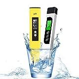 PH TDS Meter, Probador de Calidad del Agua Medida de Temperatura EC para Agua Potable, Piscinas, hidroponía, acuarios